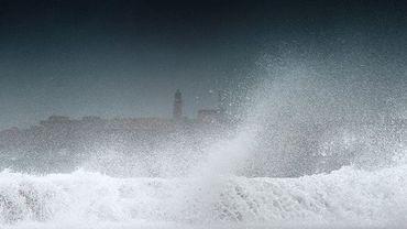 La tempête tropicale Isaac devant La Havane (Cuba)