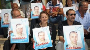 Des supporters du belgo-marocain Ali AArrass, lors de son procès