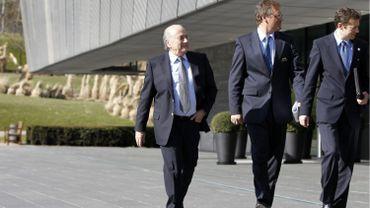 Sepp Blatte, Jérôme Valcke et Markus Kattner en 2010