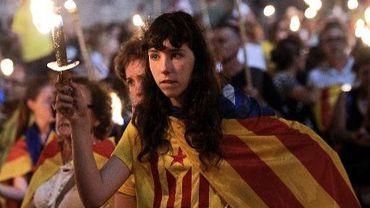 Des indépendantistes de Catalogne rassemblés à Barcelone, le 10 septembre 2013 à la veille du Jour de la Catalogne