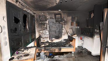 Une chambre ravagés après l'incendee