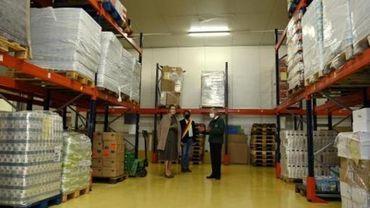 La Reine visite les banques alimentaires de la province de Liège
