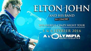 Elton John va se produire deux soirs de suite à l'Olympia à Paris, les 5 et 6 février 2016