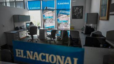 La rédaction d'El Nacional, quotidien de Caracas, au Venezuela, le 14 juin 2019