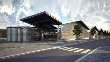 Le dépôt Marconi devrait accueillir 75 trams (projection).