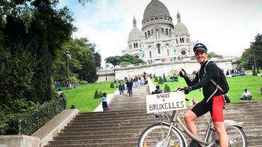 Il a fait Paris - Bruxelles en vélo libre service