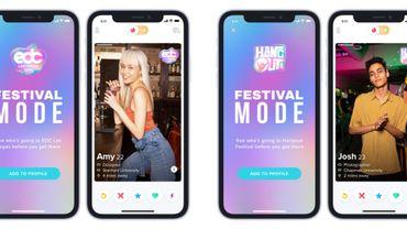 Préparez votre festival en cherchant le match idéal sur Tinder.