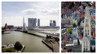 Vues de Rotterdam et d'Anvers (images d'illustration)