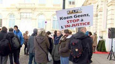 Manifestation pour un meilleur accès à l'aide juridique