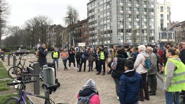 Les manifestants ont marché de la gare de Schaerbeek vers Haren