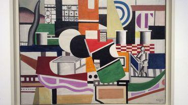 Le pont du remorqueur - Fernand Léger à Bozar - vue de l'exposition