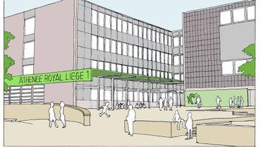 La nouvelle entrée de l'Athénée de Liège 1