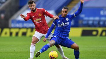 Leicester, Castagne et Tielemans partagent contre Manchester United