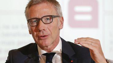 Le CEO de Belfius, Marc Raisière, lors de la présentation des résultats annuels de la Banque.