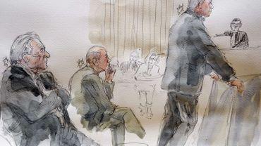 Dominique Strauss-Kahn et l'ancien dirigeant d'Eiffage, David Roquet, écoutent, Fabrice Paszkowski, s'exprime.