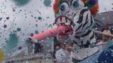 Pluie de confettis lors des carnavals en province de Liège, et notamment à Stavelot