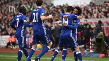 Chelsea s'est fait peur sans Hazard, mais ramène 3 points de Stoke City