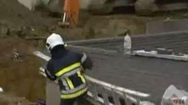 Les secours n'avaient rien pu faire pour sauver les deux ouvriers ensevelis.