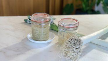 La Cuisine de Leslie - Radicelles de poireau lacto-fermenté