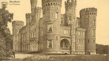 Carte postale du château de Moulbaix en 1900