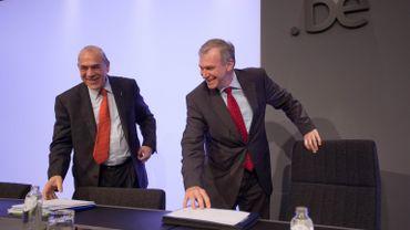 Le secrétaire général de l'OCDE et Yves Leterme