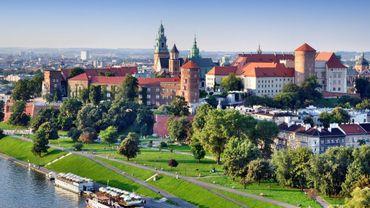 Une vue aérienne du Château du Wawel de Cracovie