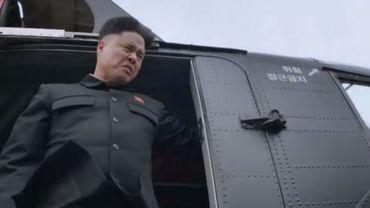 """Une image du film """"The Interview"""" représentant le dictateur nord-coréen Kim Jong-Un"""