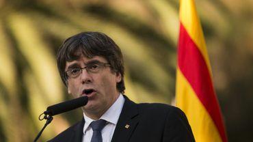 Le leader séparatiste catalan Carles Puigdemont, le 15 octobre 2017