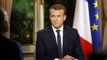 Emmanuel Macron lors de son interview télévisée, le 15 octobre 2017