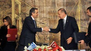 Les premiers ministres grec Samaras et turc Erdogan ont signé une série d'accords de coopération économique