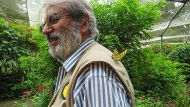 Le botaniste Alberto Gomez dans son jardin botanique à Quindio, le 6 juillet 2020.