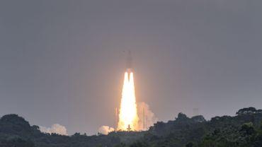 Le lancement d'Ariane 5, au centre spatial de Kourou. Une image devenue presque coutumière.