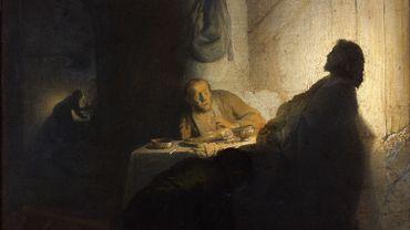 """Rembrandt, """"Le Repas des pèlerins d'Emmaüs"""" (vers 1629)"""