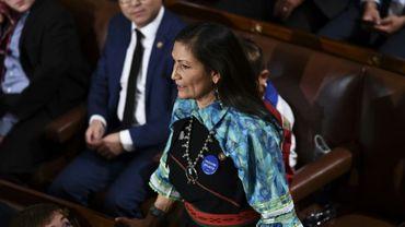 La représentante du Nouveau-Mexique d'origine amérindienne Deb Haaland le 3 janvier 2019 à Washington