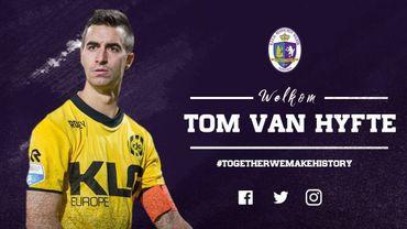Le Beerschot Wilrijk attire le Belge Tom Van Hyfte, capitaine de Roda