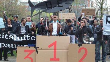 La manifestation des sans-papiers