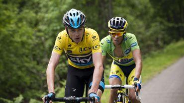 Chris Froome et Alberto Contador