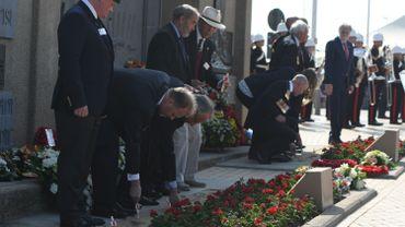 Cérémonie pour le centenaire du raid de Zeebrugge pendant la première guerre mondiale.