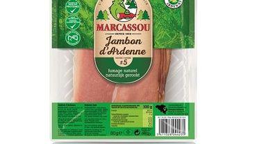 Rappel de jambon d'Ardenne Marcassou pour présence possible de salmonelles
