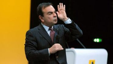 Carlos Ghosn lors d'une conférence presse, le 10 février 2011 à Boulogne-Billancourt
