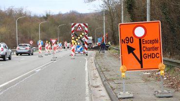 Un accès au chantier est prévu au départ de la N90