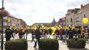 Manifestation flamande à Linkebeek, une commune à facilités