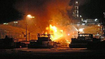 Explosion d'un pétrolier