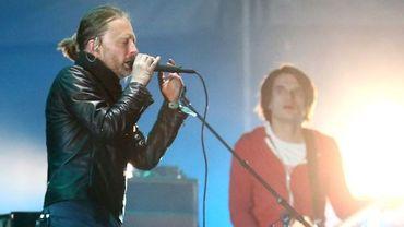 Thom Yorke et Radiohead, sur la scène du Festival Coachella, en avril 2012