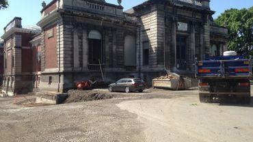 Le chantier en cours du futur CIAC à La Boverie.