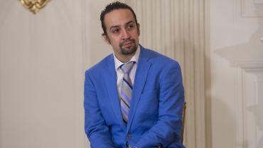 """Lin-Manuel Miranda, créateur et star du spectacle de Broadway """"Hamilton"""""""