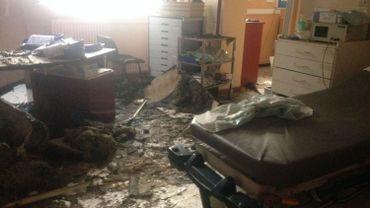 Les dégâts dans certaines salles de soin sont impressionnants