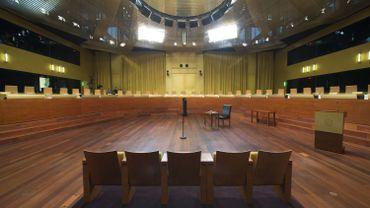 La salle d'audience de la Cour de justice de l'Union européenne