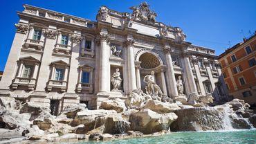 La fontaine de Trevi, à Rome
