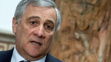 Le président du Parlement européen Antonio Tajani, lors d'une visite à l'Organisation des Etats américains à Washington le 27 février 2019
